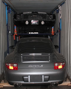 Loading your cars in a container the professional way.